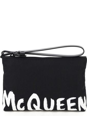 Alexander McQueen Travel Pouch Graffiti Logo
