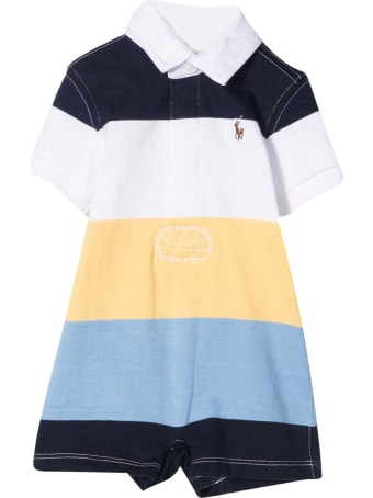 Ralph Lauren Multicolor Horizontal Striped Romper