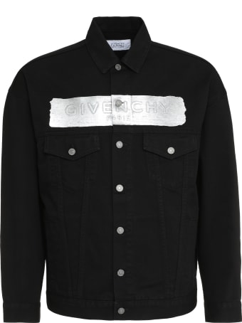 Givenchy Logo Print Denim Jacket