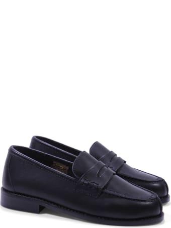 Prosperine Black Nappa Leather Loafers