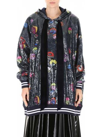 Mira Mikati Multicolor Sequins Maxi Hoodie