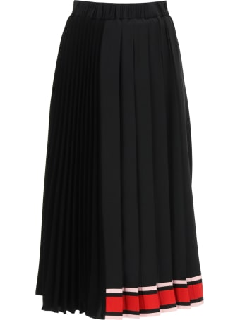 N.21 Pleated Midi Skirt