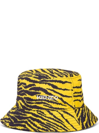 Kenzo Bucket Hat With Zebra Print