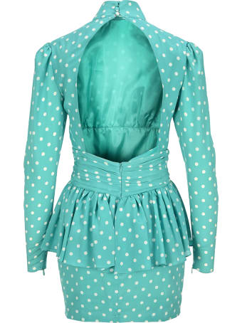 Alessandra Rich Polka-dot Dress
