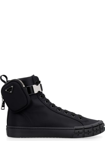 Prada Prada Wheel Re-nylon High-top Sneakers