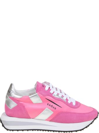 GHOUD Rush Sneakers In Nylon And Suede Color Fuchsia