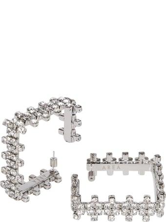 AREA Silver-tone Brass Earrings