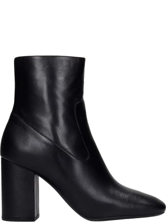 Michael Kors Marcella High Heels Ankle Boots In Black Leather