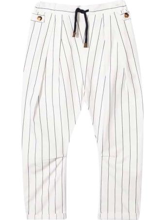 Brunello Cucinelli White Trousers Teen