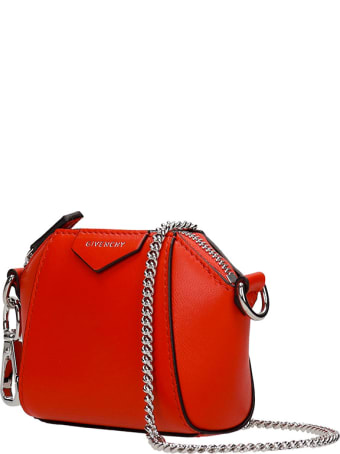 Givenchy Antigona Baby Shoulder Bag In Red Leather