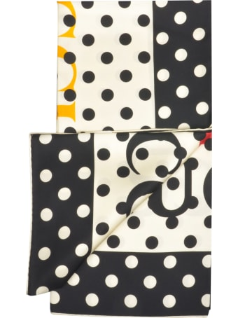 Gucci Pois Silk Foulard With Vintage Logo Print