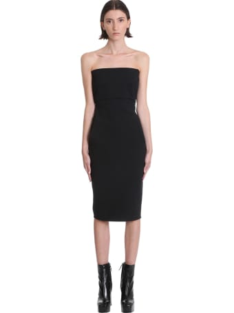 Rick Owens Bustier Dress Dress In Black Cotton