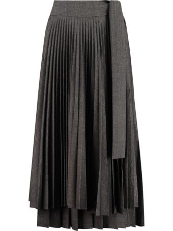 Parosh Plane Pleated Skirt