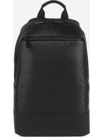 Calvin Klein Round Backpack With All-over Embossed Logo