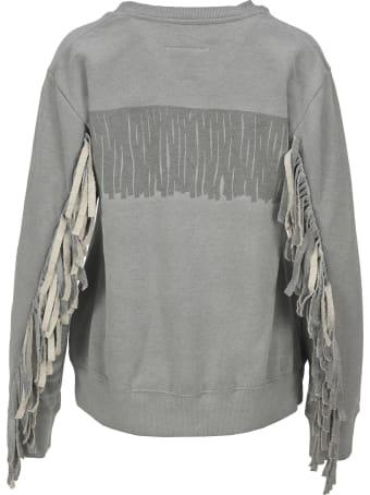 MM6 Maison Margiela Mm6 Fringed Sweatshirt