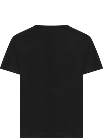Dolce & Gabbana Black T-shirt For Kids With Logos