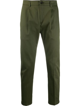 Department 5 Green Cotton-blend Trousers