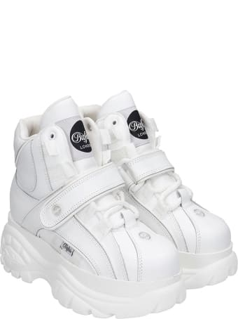 Buffalo Sneakers In White Leather