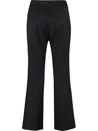 ALEXACHUNG Cropped Pinstripe-motif Trousers