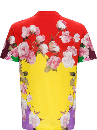Valentino Cotton T-shirt With Flying Flowers Print