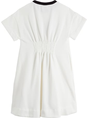 Fendi Cotton Dress With Logo Print