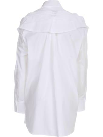 Simone Rocha Masculine Bow Shirt Cotton Poplin