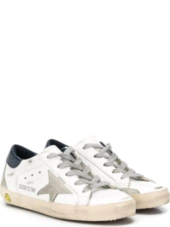 Golden Goose Superstar Sneakers With Blue Back