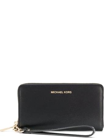 MICHAEL Michael Kors Jet Set Leather Wallet With Logo