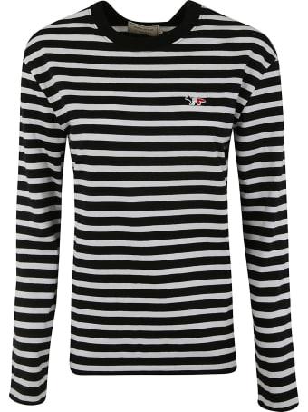 Maison Kitsuné Striped Sweatshirt