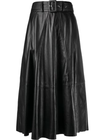 ARMA Gianni Long Leather Skirt With Belt