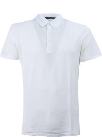 Kangra White Cotton Polo Shirt
