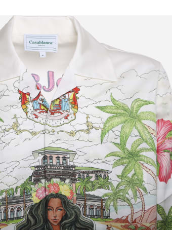 Casablanca Kamehameha Shirt In Cotton With Print