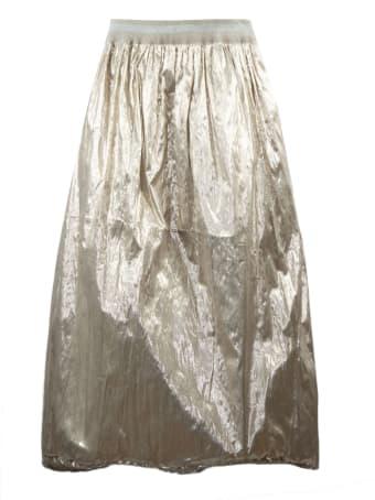 Fabiana Filippi Gold Toned Lightweight Metallic Skirt