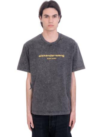 Alexander Wang T-shirt In Grey Cotton