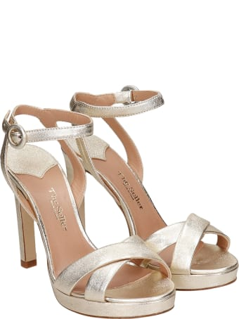 The Seller Sandals In Platinum Leather