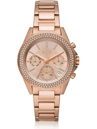 Armani Collezioni Armani Exchange Lady Drexler Rose Gold Tone Chronograph Watch