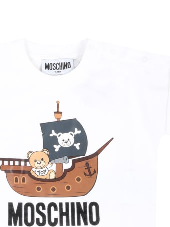 Moschino Multicolor Suit For Babyboy With Teddy Bear