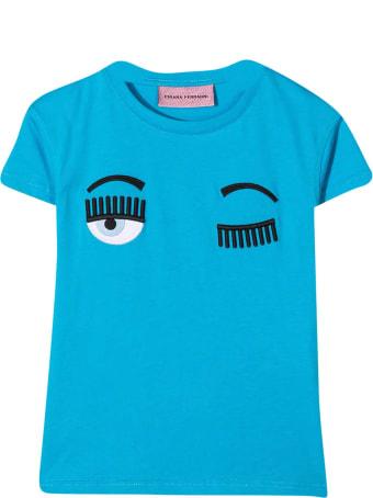 Chiara Ferragni Light Blue T-shirt
