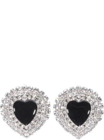 Alessandra Rich Heart Crystal Earrings