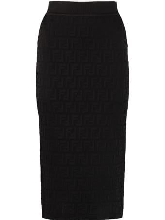 Fendi Jacquard Knit Skirt
