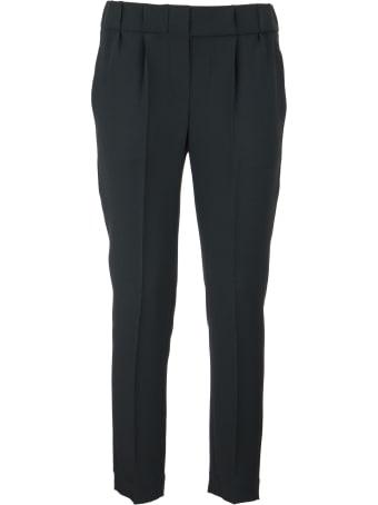 Brunello Cucinelli Silk And Acetate Cady Cr?pe Tailored Jogger Trousers Lignite