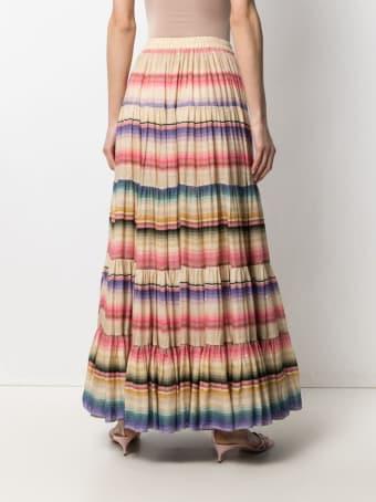 Mes Demoiselles Long Multicolor Striped Carmen Skirt