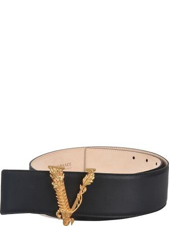 Versace V Plaque Belt
