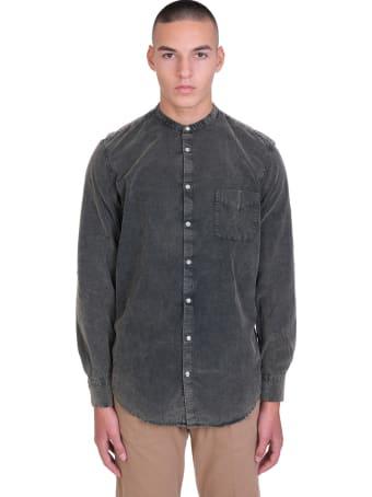 Massimo Alba Shirt In Grey Cotton