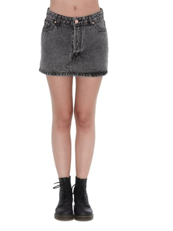 WE11 DONE Denim Mini Skirt