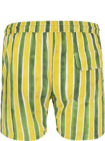 Capri Code Green And Yellow Striped Swimsuit