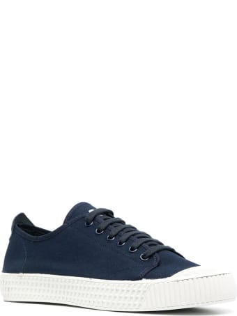 Car Shoe Blue Cotton Sneakers