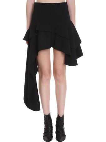 TPN3 Skirt In Black Cotton