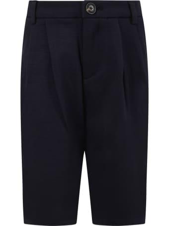 Armani Collezioni Blue Short For Boy With Logo