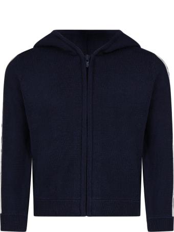 Kenzo Blue Sweatshirt For Boy With Logos